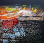 L'alba. 100x100 - acrilico su tela