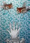 2008 hand of glory. olio su tela - 70x100