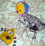 2008 - Mystifying oracle the number 5. olio su tela - 50x50cm