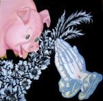 2009-In loving memory. olio su tela 24x24cm