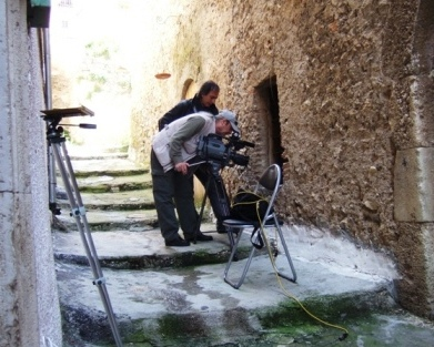 Foto Backstage dell'ultimo film Carnem Levare il cammino