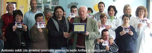 Antonio Oddi premio Anffas