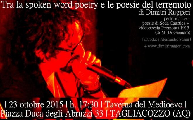 Locandina Tagliacozzo_Spoken word
